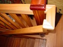 Handrail and newel post