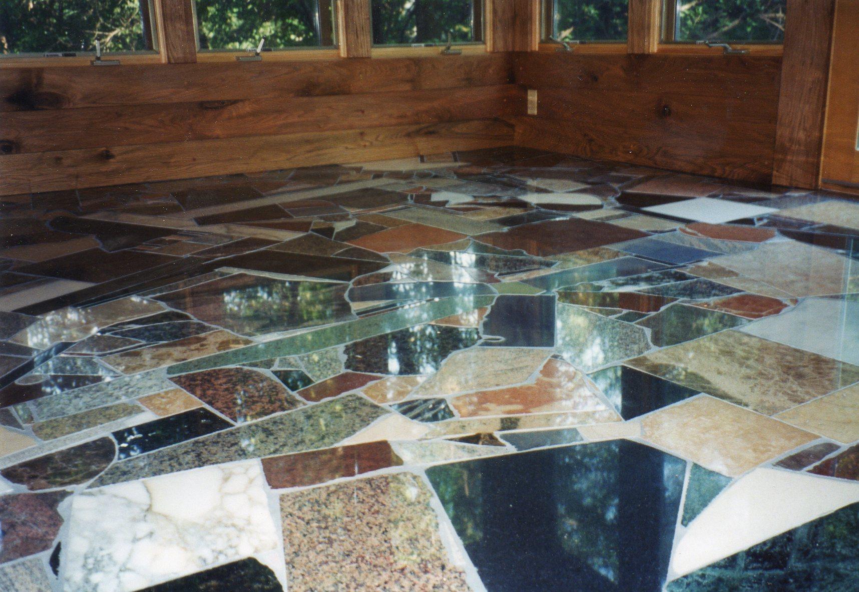 Scrap Marble, Granite, Slate, Terrazzo, Butternut