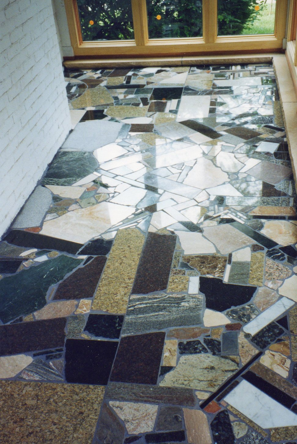 Scrap marble granite slate terrazzo 2 for Interesting flooring ideas
